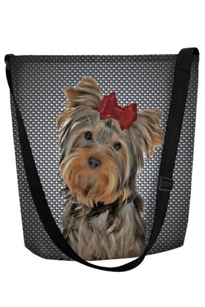Dámska taška s motívom psíka