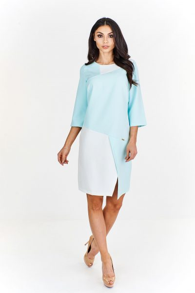 Moderné asymetrické šaty