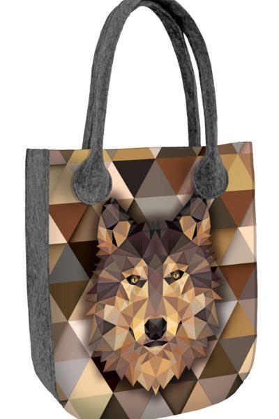 Filcová taška s vlkom