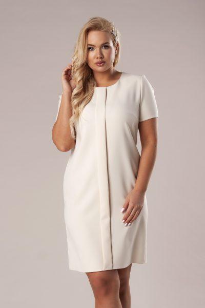 Elegantné šaty s ozdobným záhybom vpredu