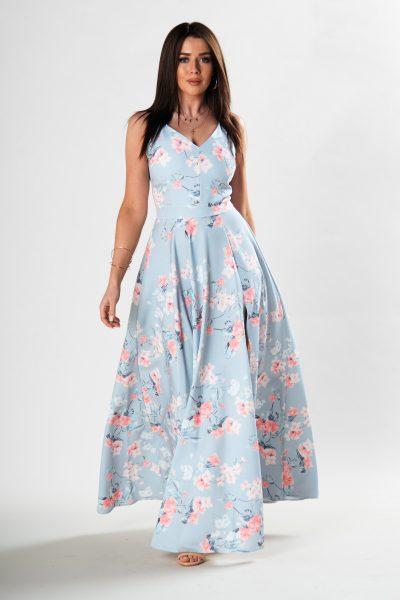Romantické šaty s kvetinovým vzorom