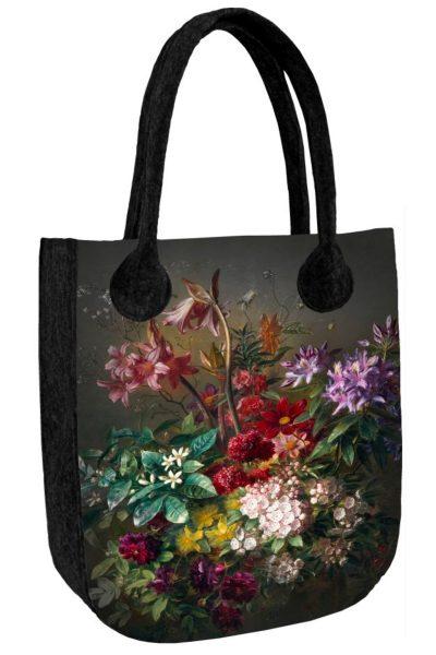 Taška s kvetinovým motívom