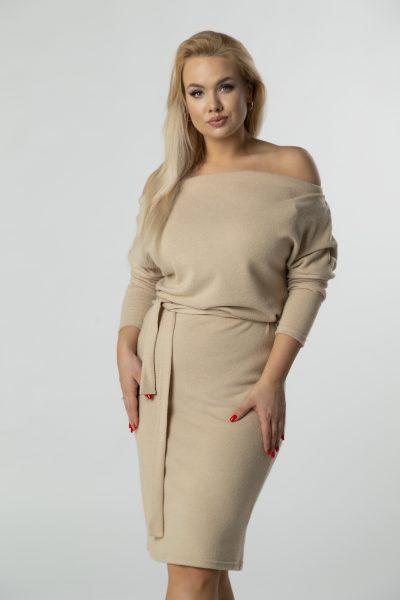 Bavlnené šaty s odhalenými plecami