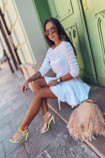 Bavlnená sukňa s fodričkou