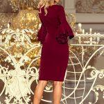 Priliehavé šaty s volánmi