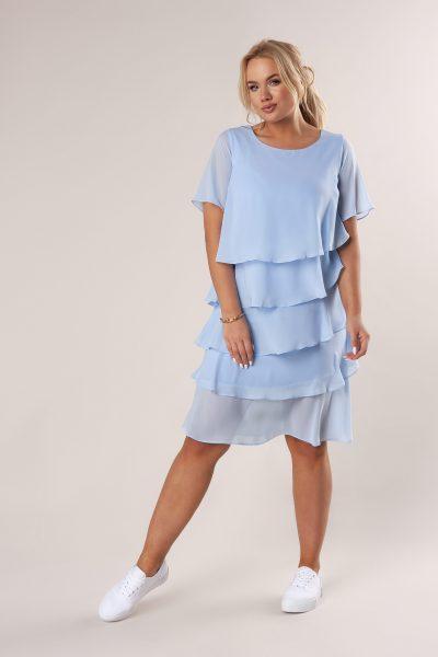 Tylové šaty s asymetrickými ozdôbkami