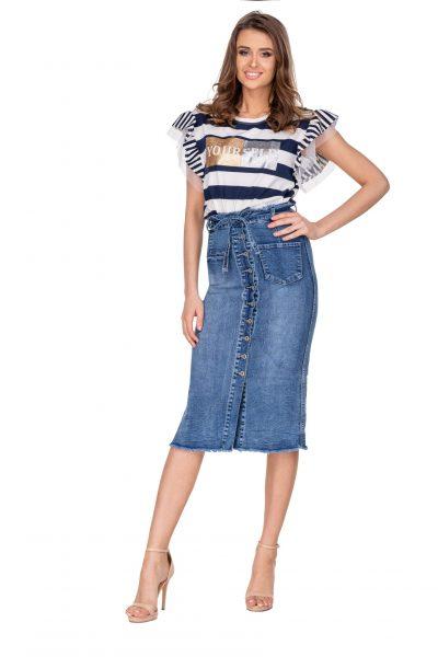 Dámska džínsová súkňa