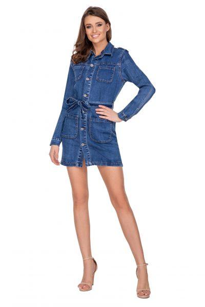 Dámske mini džínsové šaty