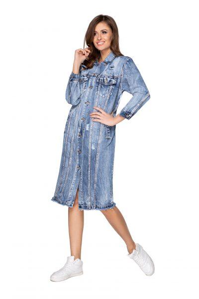 Rifľová oversize bunda/ šaty