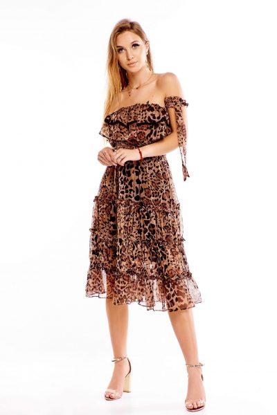 Dámske leopardie šaty