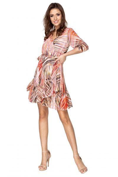 Obálkové šaty s viazaním v páse