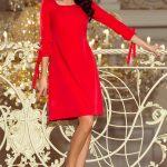 Elegantné šaty s viazaním na ruke