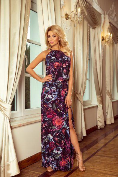 Maxi šaty s kvetinovým vzorom