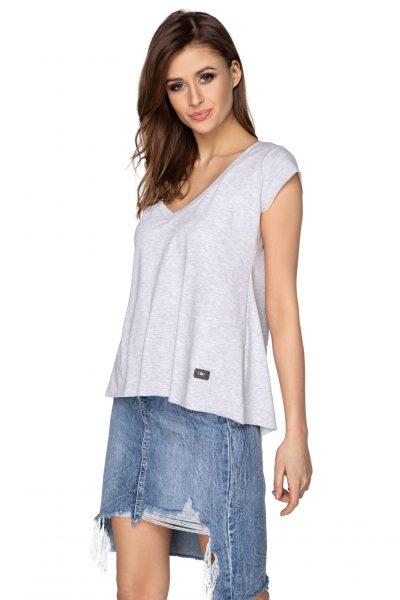 Bavlnené tričko s výstrihom do V