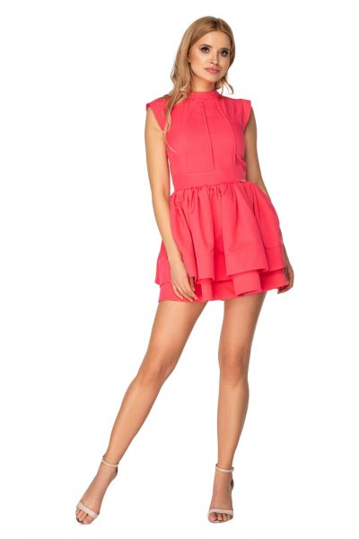 Jednofarebné dámske šaty