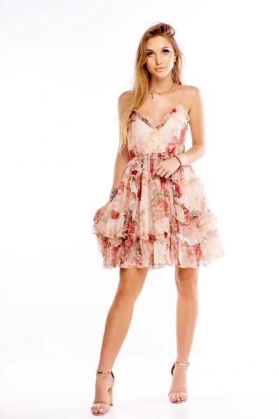 Dámske šaty s kvetinovým vzorom