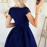 Krátke spoločenské šaty – tmavomodré