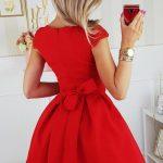 Krátke spoločenské šaty – červené