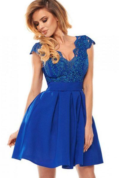 Krátke spoločenské šaty – modré