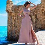 Dlhé šaty LISA s rozparkom