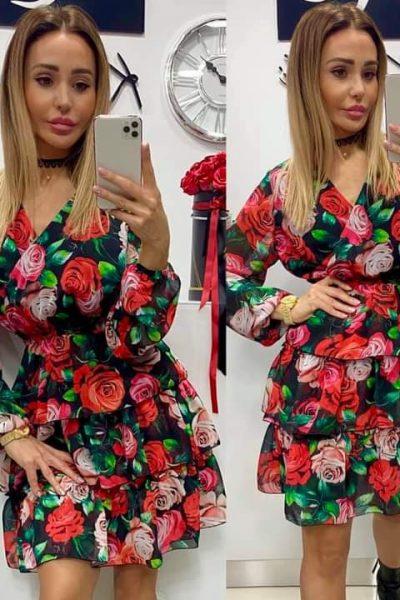 Krátke šifónové šaty