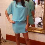 Krátke šaty so šifónovým vrchom- N04