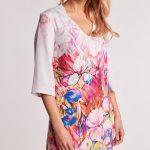 Krátke kvetované šaty -N02