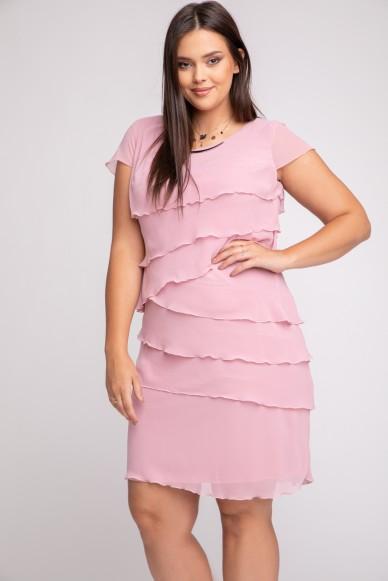 Šifónové šaty -Falbanka
