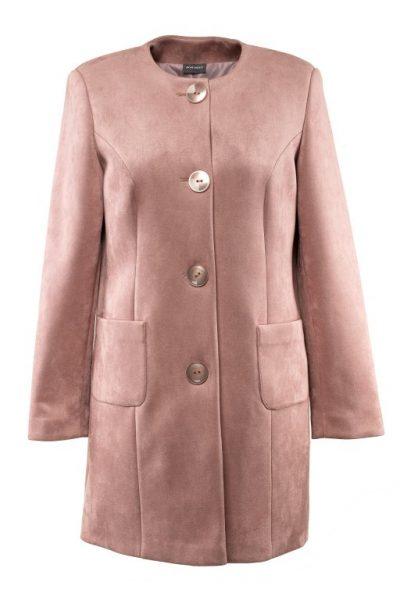 Jarný kabát so semišovým efektom