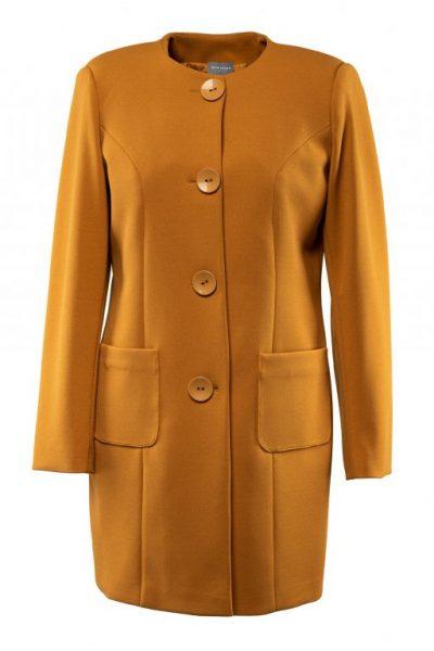 Jarný kabát -horčicový