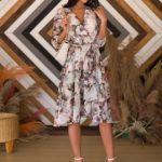 Midi kvetované šaty Kayla