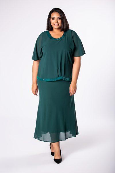 Midi šifónové šaty