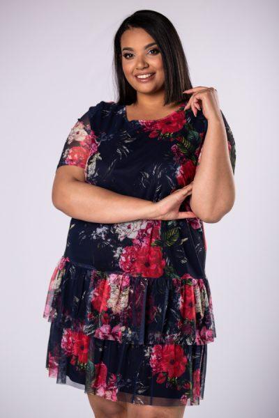 Krátke kvetované šaty