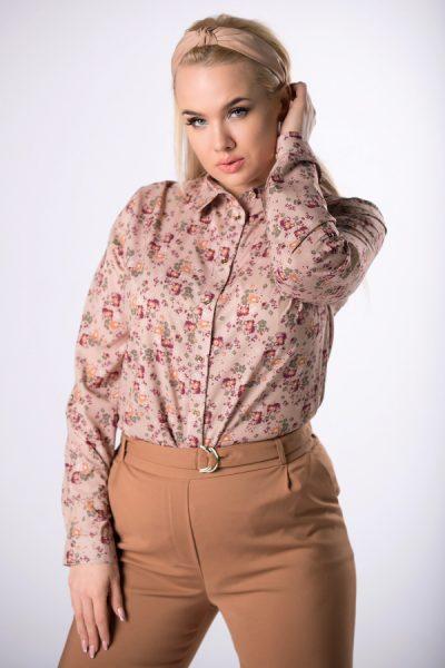 Kvetovaná košeľová blúzka