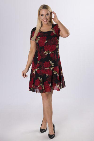 Kvetované šifónové šaty