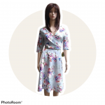 Spoločenské šaty LILA kvetované